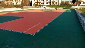 Martinengo BG Campo basket tracciatura righe 1