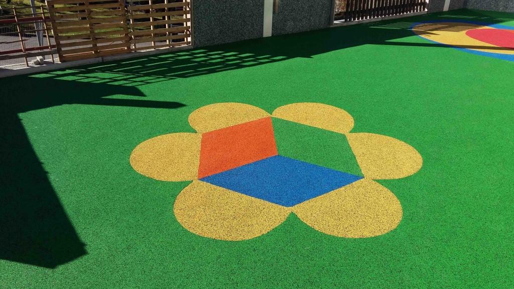 Pavimento antitrauma in gomma colato in opera vantaggi e posa - Pavimento in gomma per esterni ...